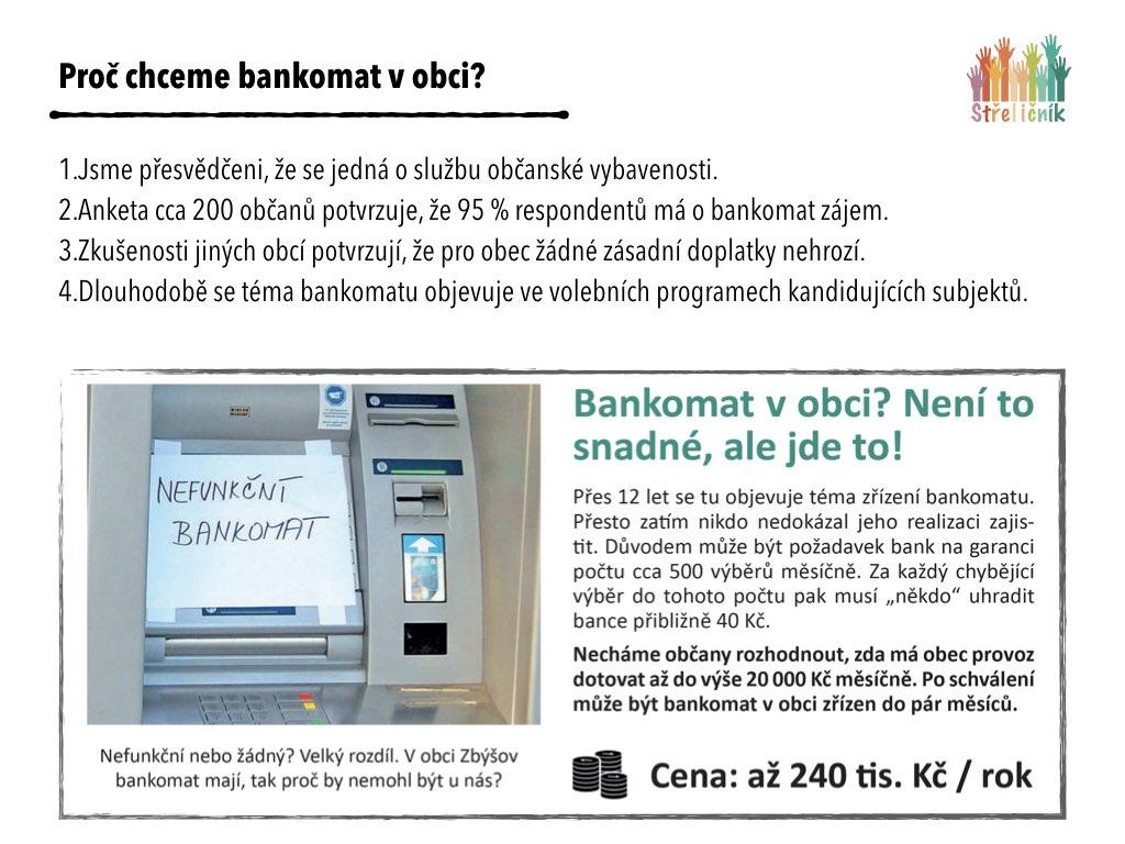 Bankomat – kam s ním?